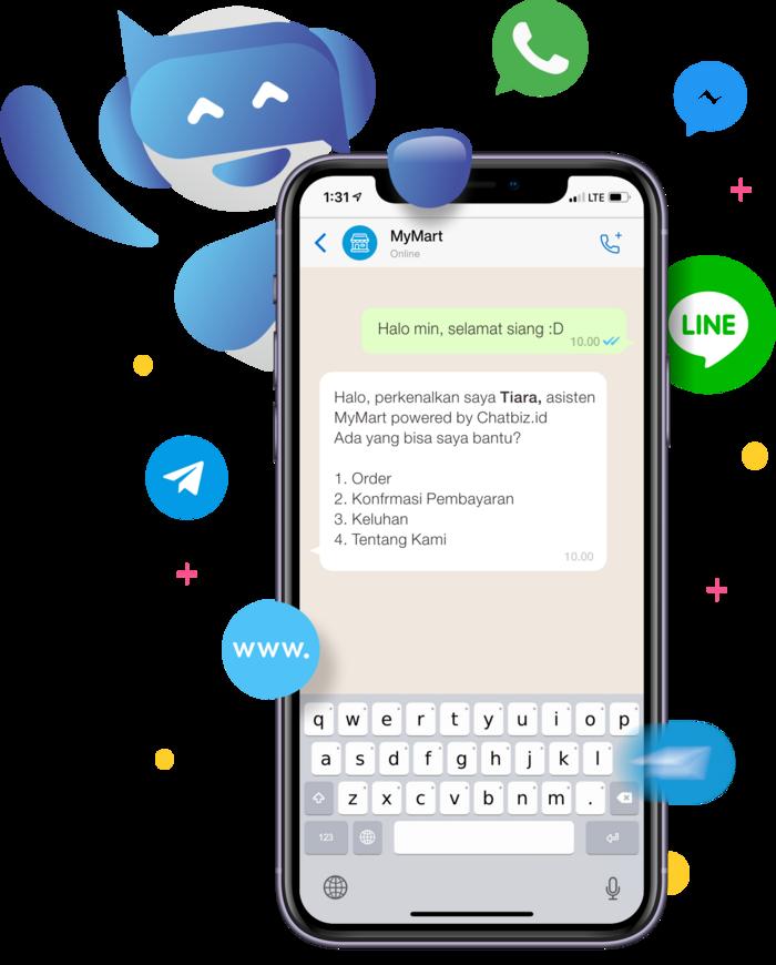 WhatsApp Bot Virtual Assistant yang dapat mengotomasi bisnis